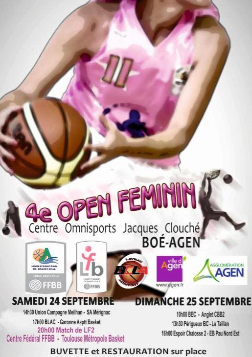 open pré national boé