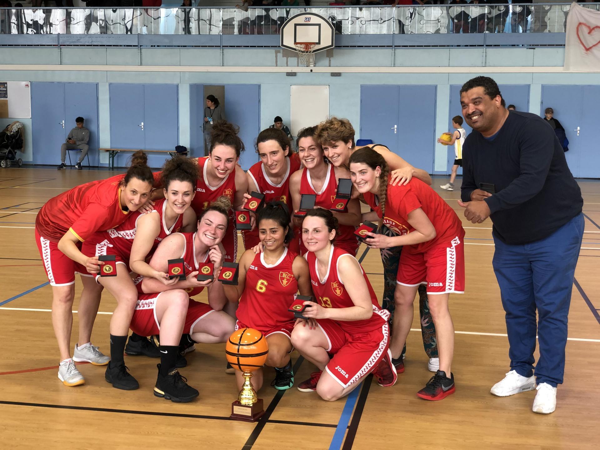 Seniors Filles du BEC basket remportent la Coupe 33