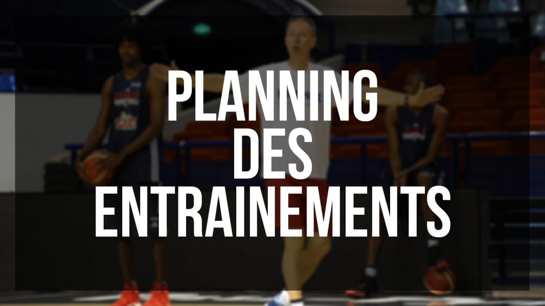 Planning entrainements bec basket